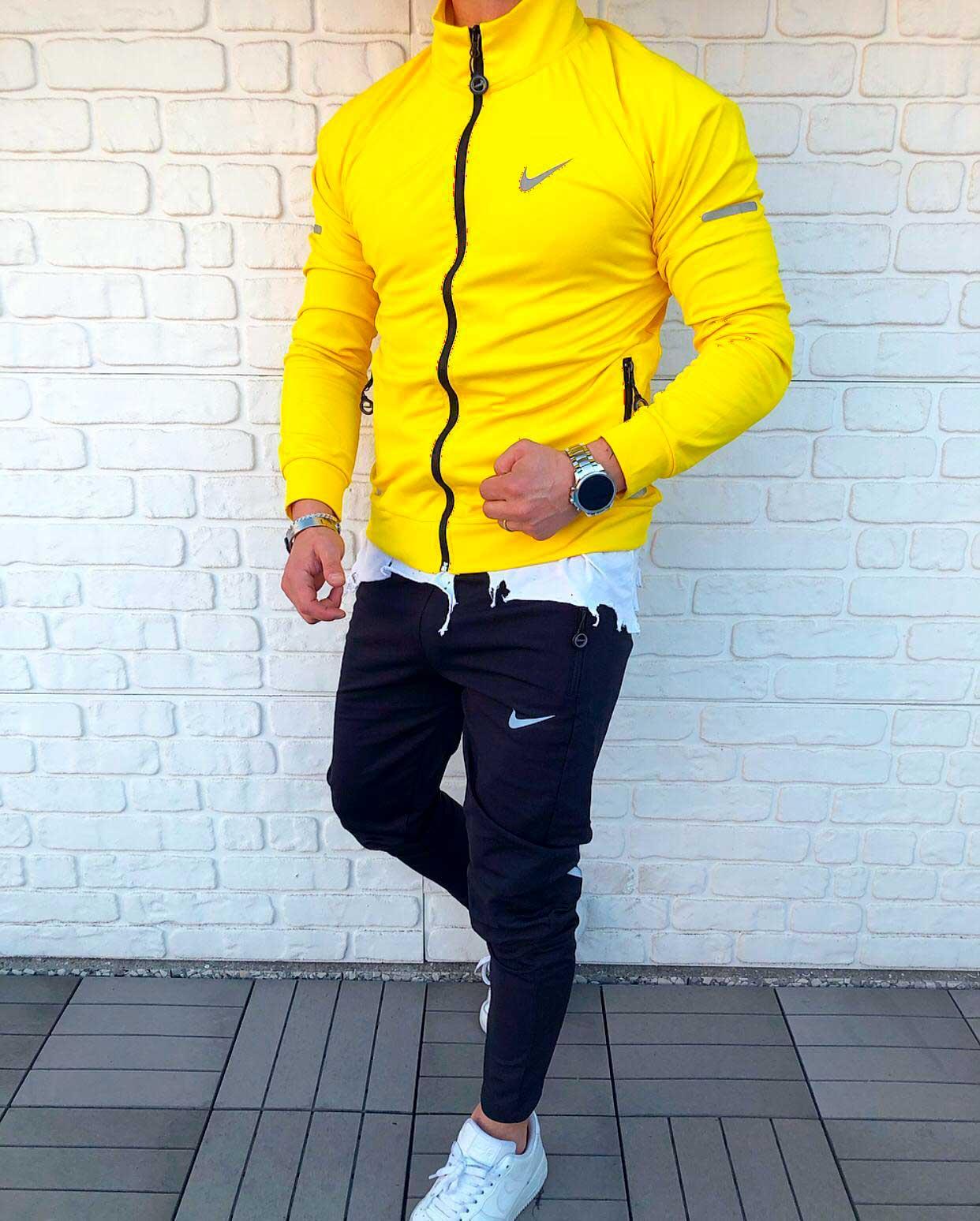 Мужской спортивный костюм Nike желтый